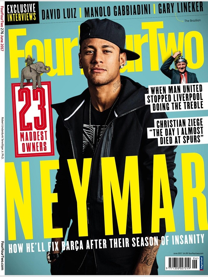 Neymar Jr. is featured in the new edition of the FourFourTwo Magazine c732fc0977fd1