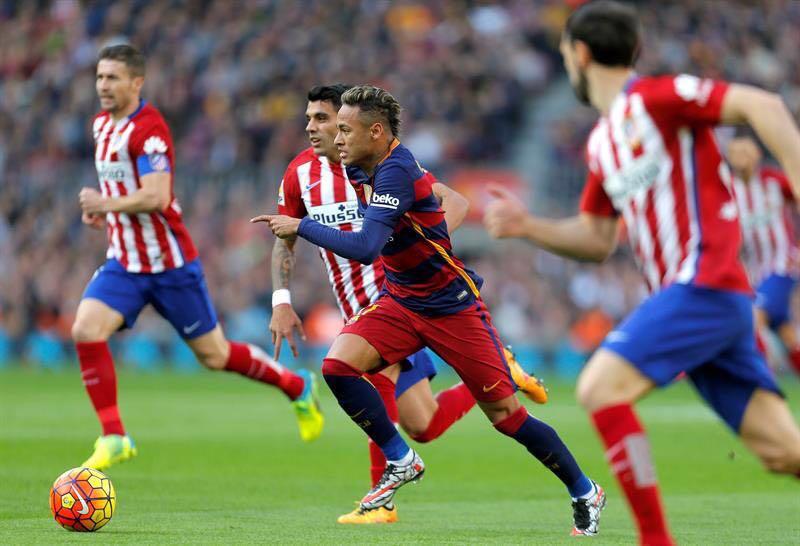 گزارش تصویری:نیمار مقابل اتلتیکو مادرید