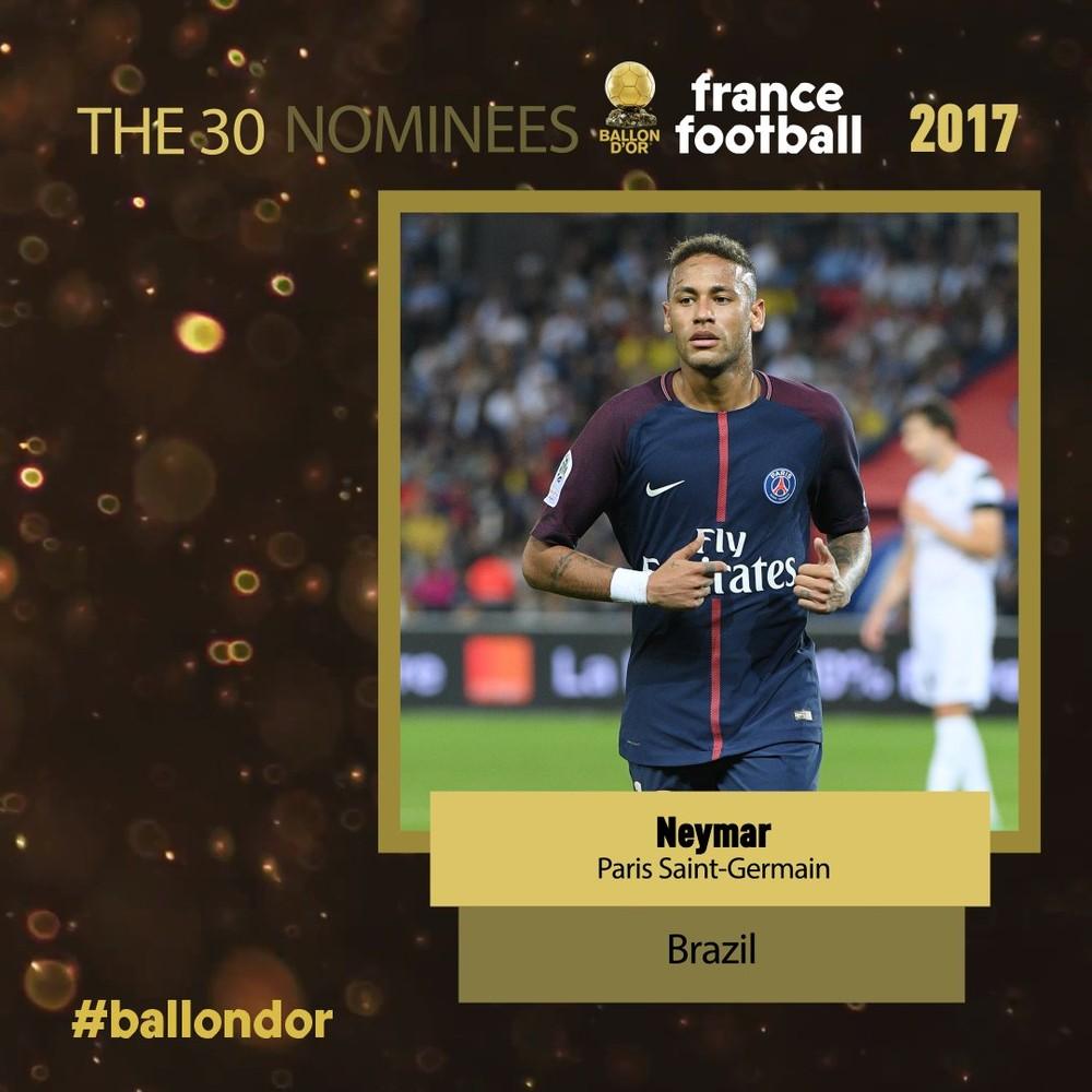 Neymar Jr. está na lista de indicados à Bola de Ouro 9111ec05089dd