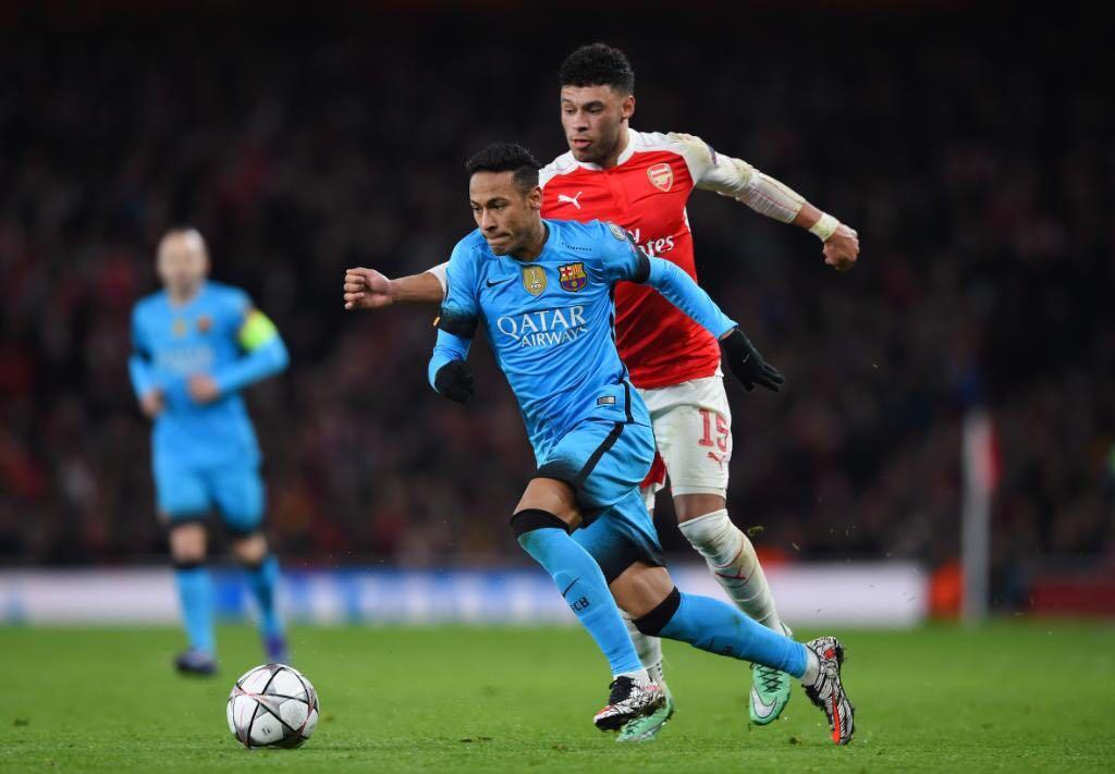 گزارش تصویری: نیمار  مقابل آرسنال