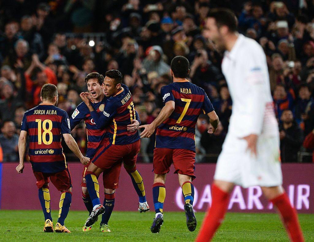 a837ee7365 Barcelona dominates the Camp Nou and defeats Sevilla