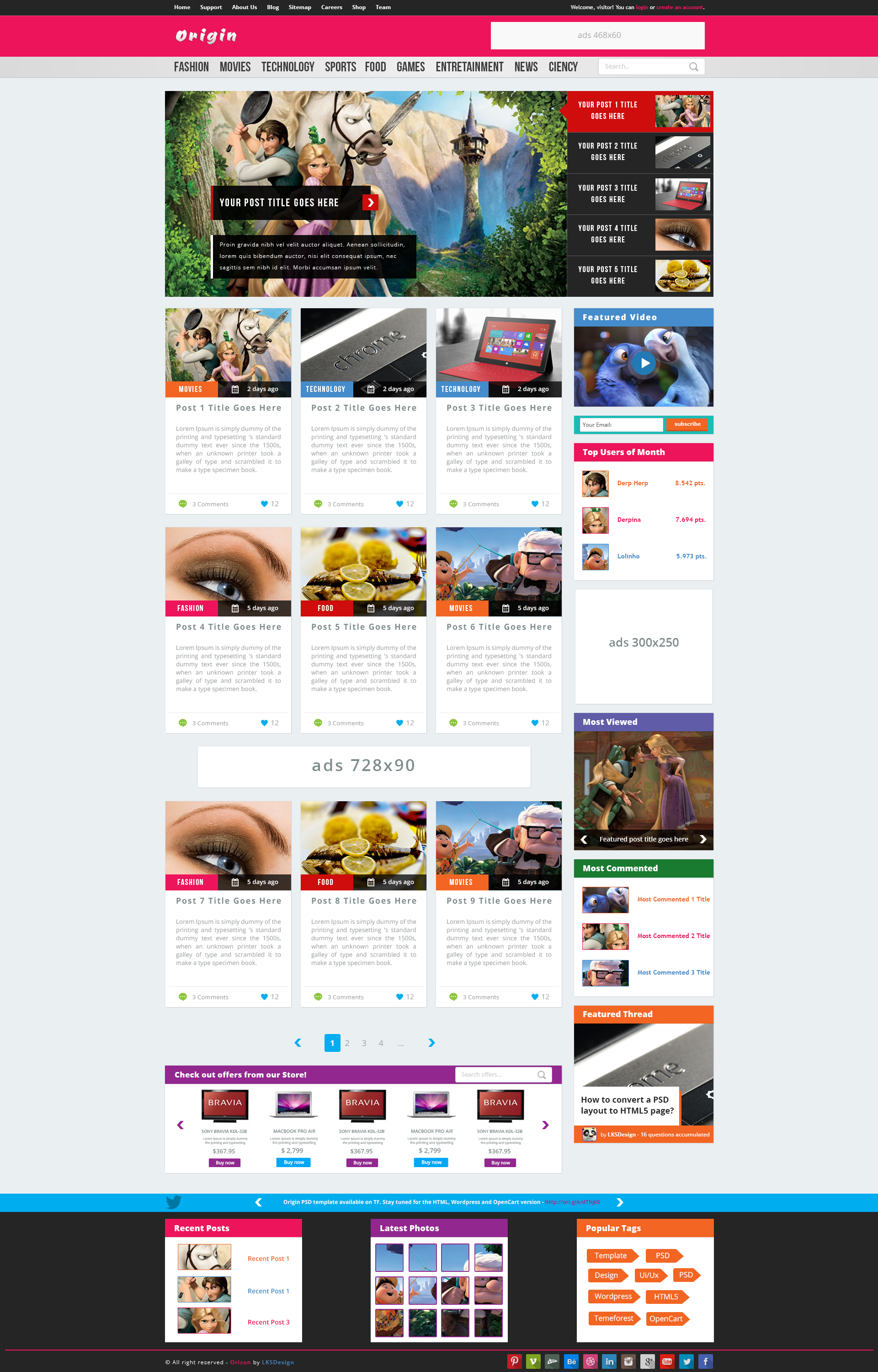 Origin - Premium Magazine Template
