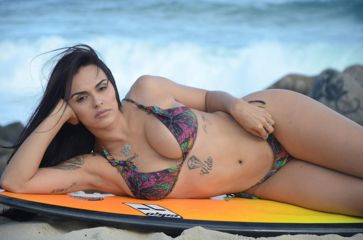 Jessica Salty, a nova Beach Girl do Ricosurf. Foto: Fred Rozario.