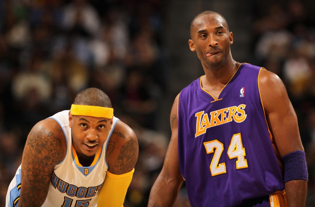 Carmelo Anthony Kobe Bryant - Getty Images
