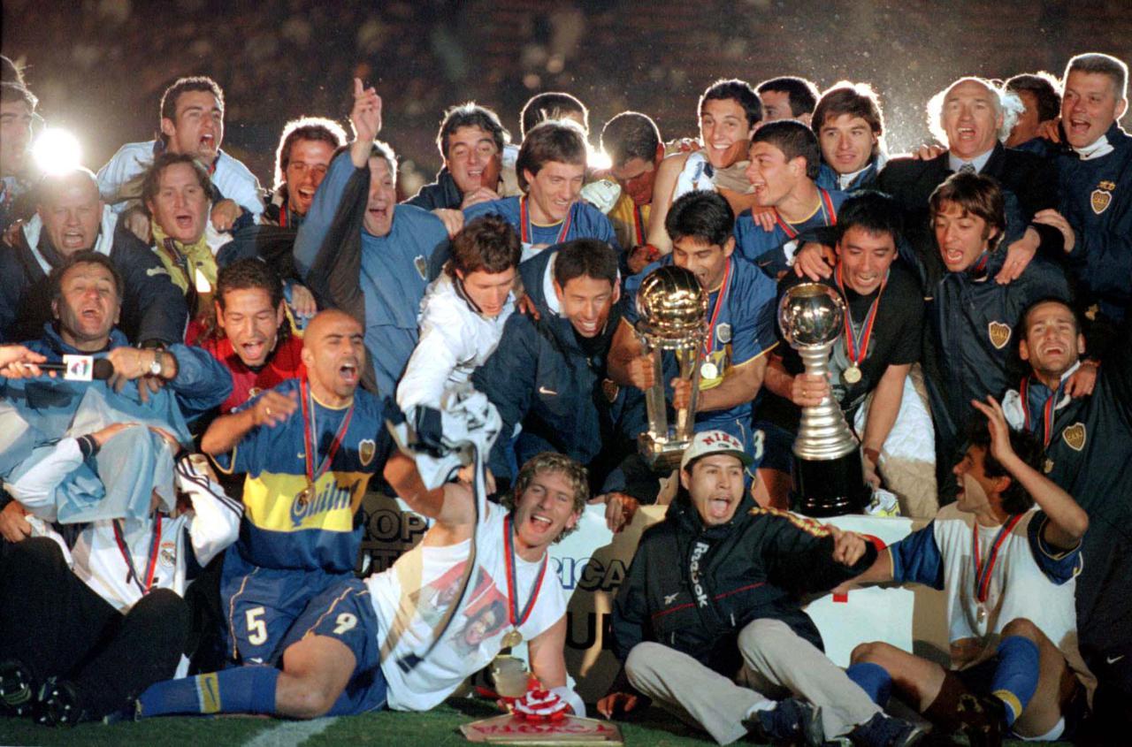 Boca Juniors, da Argentina, foi campeão da Copa Intercontinental em 2000 - Shaun Botterill /Allsport