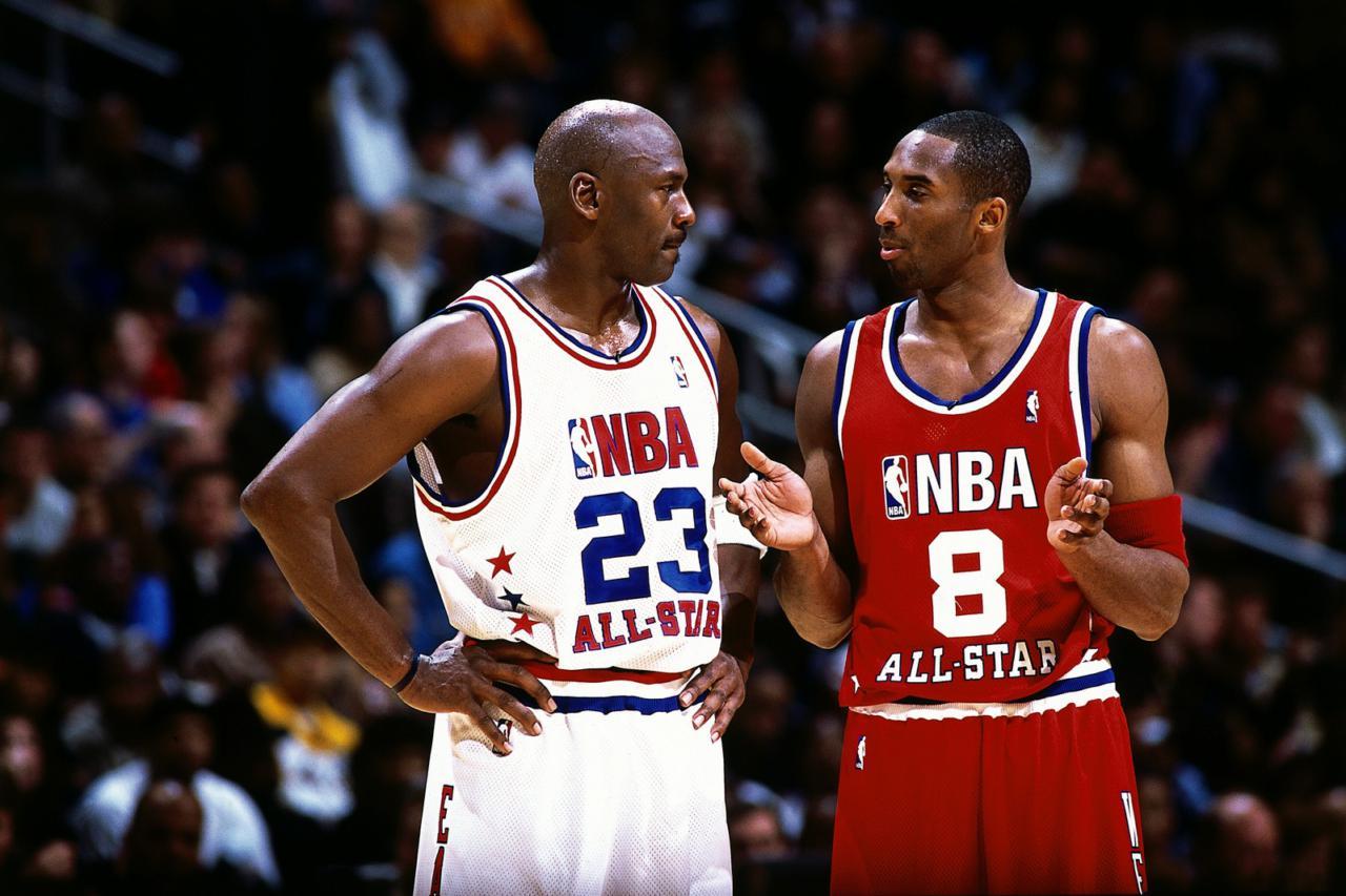 Kobe Bryant Michael Jordan - Getty Images