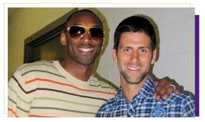 Novak Djokovic Kobe Bryant - Reprodução