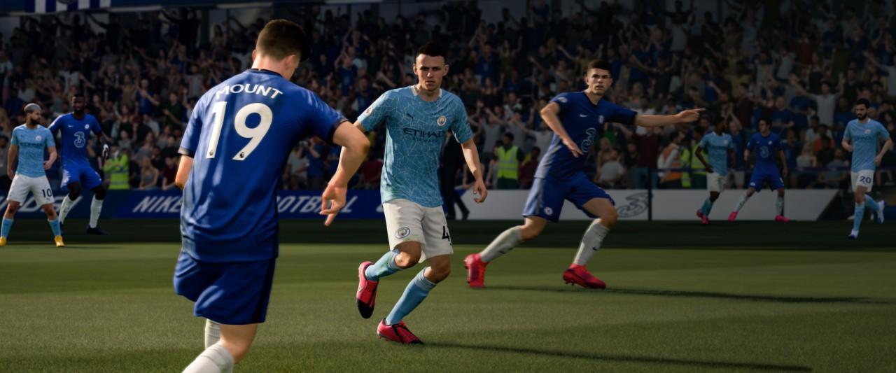 Chelsea e City se enfrentam no FIFA 21 - Reprodução