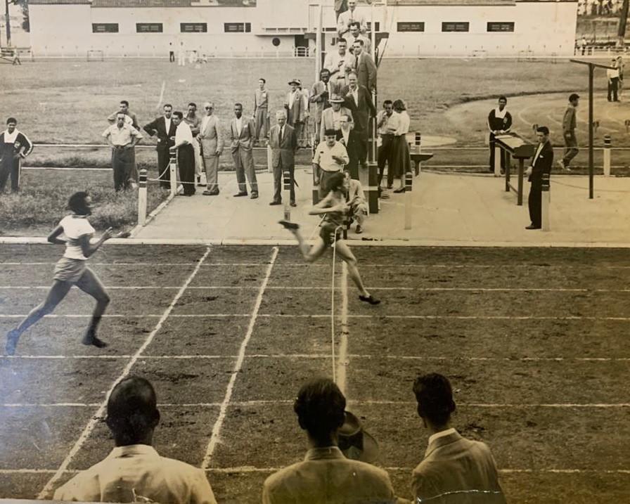 Melânia em ação na pista: câmera registra a chegada em segundo lugar - Arquivo pessoal