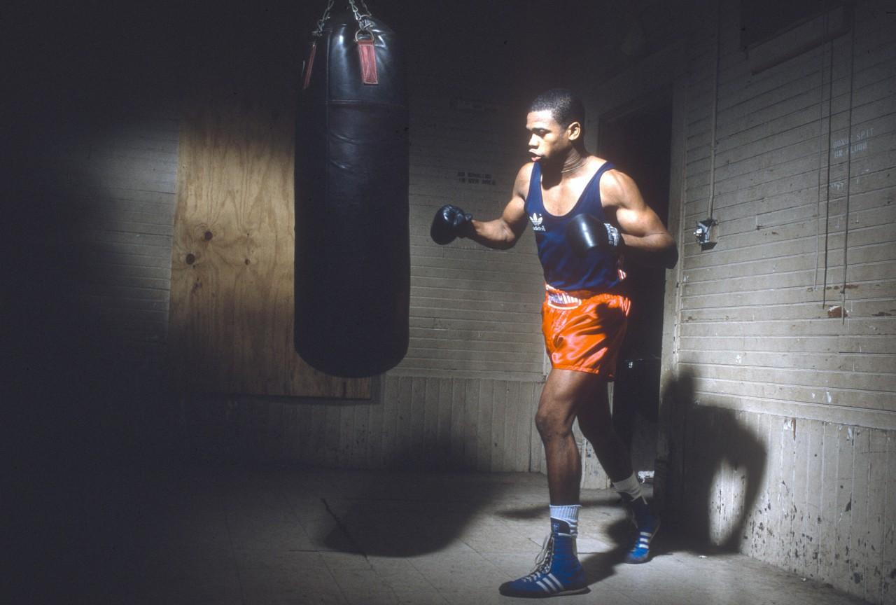 Roy Jones Jr. em treino para as Olimpíadas de Seul, em 1988 - Getty Images