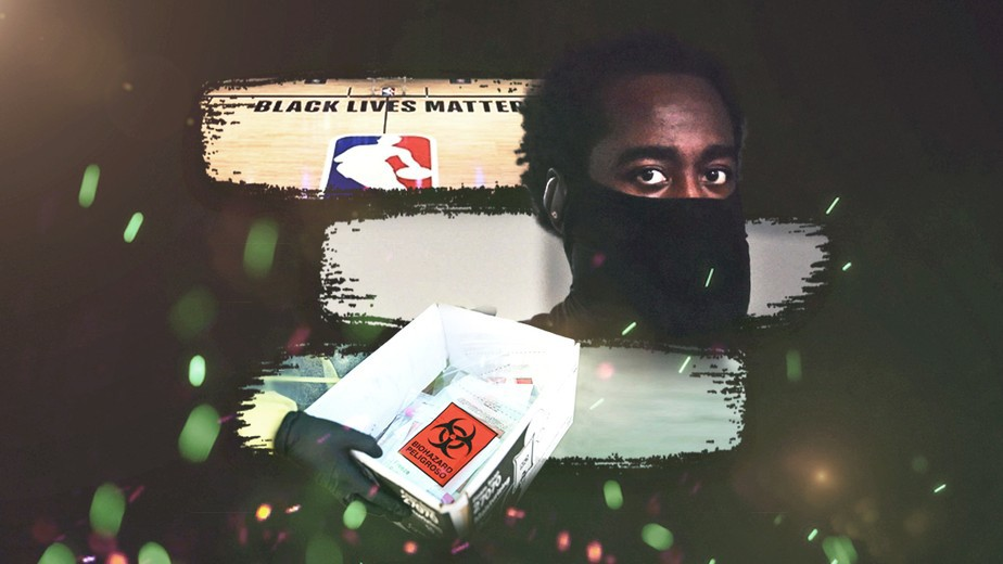 Arte NBA coronavírus - Infoesporte