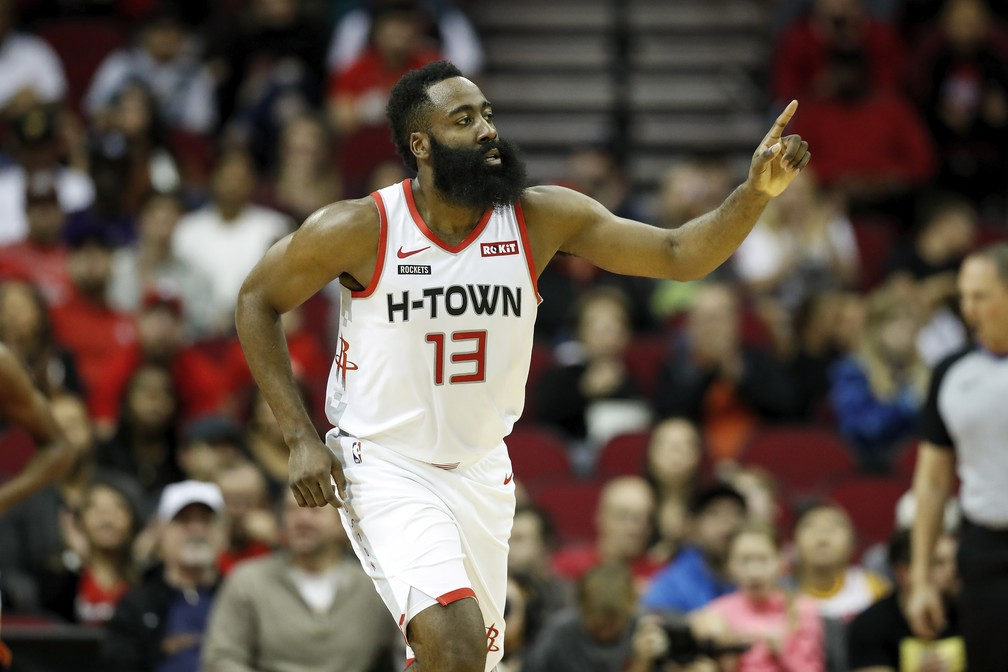 James Harden, astro do Houston Rockets - Getty Images