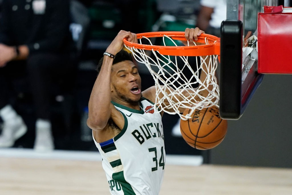 Giannis Antetokounmpo, astro do Milwaukee Bucks - Ashley Landis - Pool/Getty Images