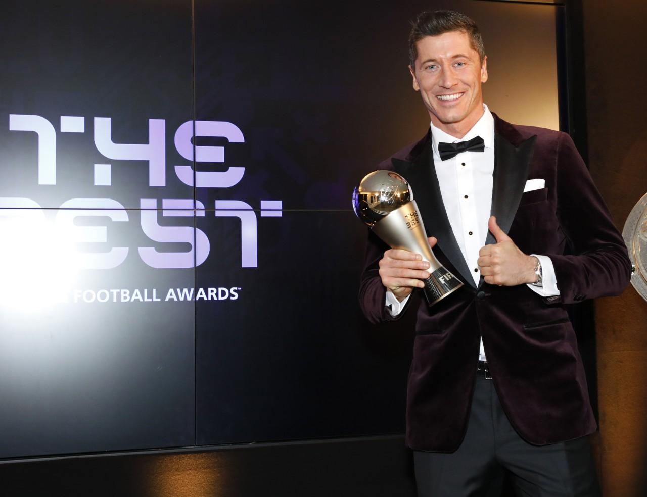 Lewandowski foi eleito o melhor jogador do mundo em 2020 - Getty Images