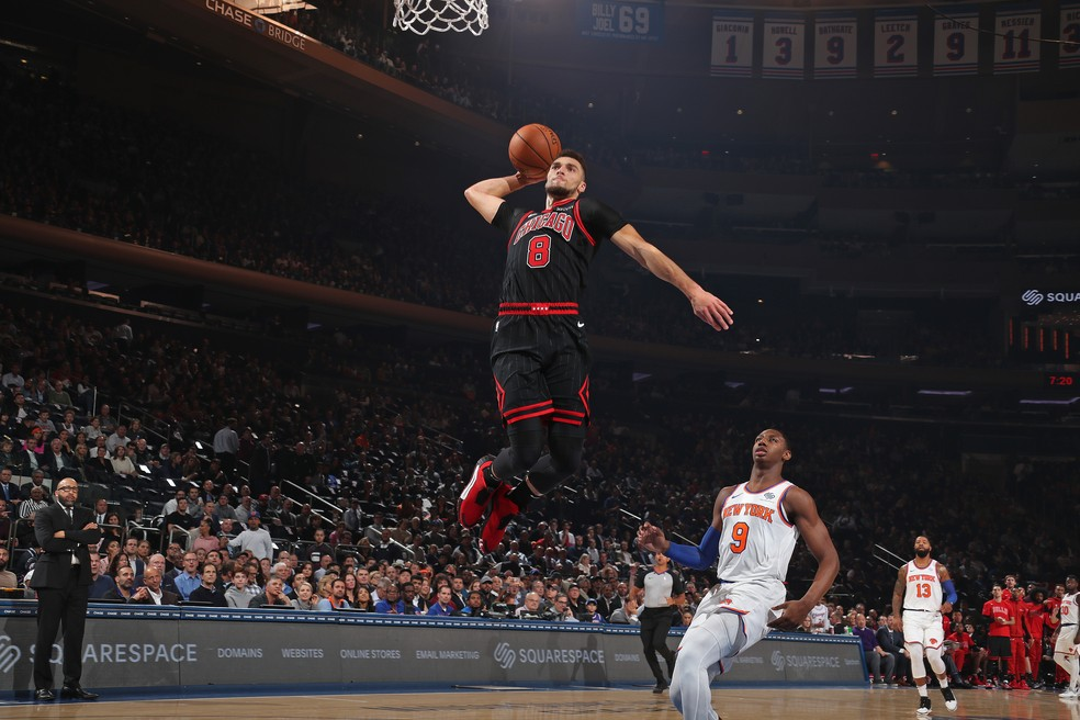 Zach LaVine, ala-armador do Chicago Bulls - Nathaniel S. Butler/Getty Images