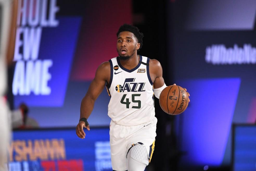 Donovan Mitchell, ala-armador do Utah Jazz - Garrett Ellwood/Getty Images
