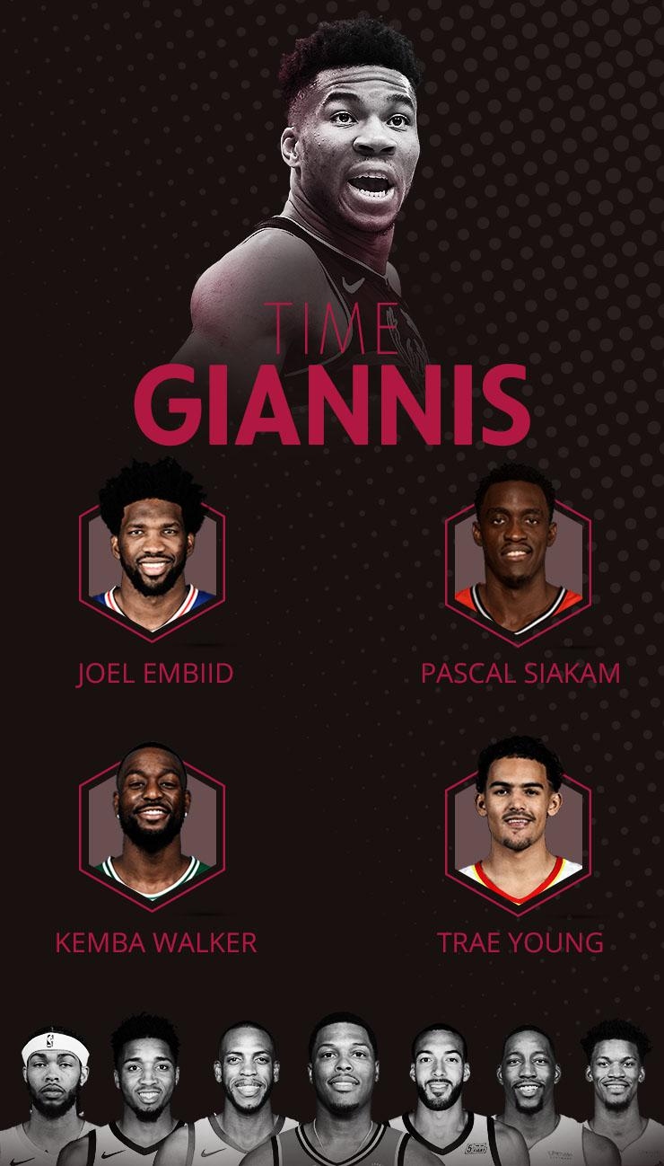 Time Giannis All-Star Game - Infografia