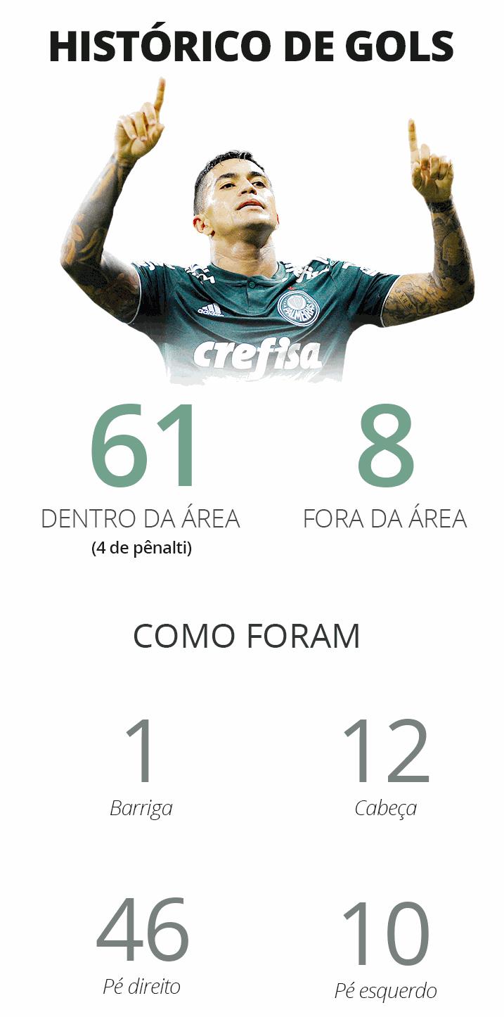 Raio-x dos gols de Dudu - GloboEsporte.com