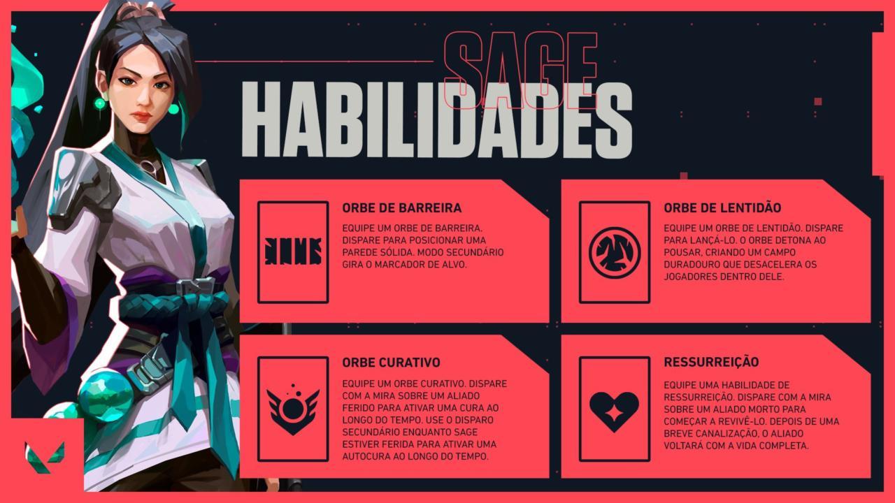 Habilidades da agente Sage - Divulgação/Riot Games