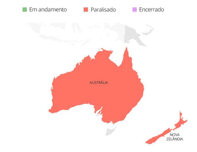 Austrália Nova Zelândia valendo coronavírus - Infografia