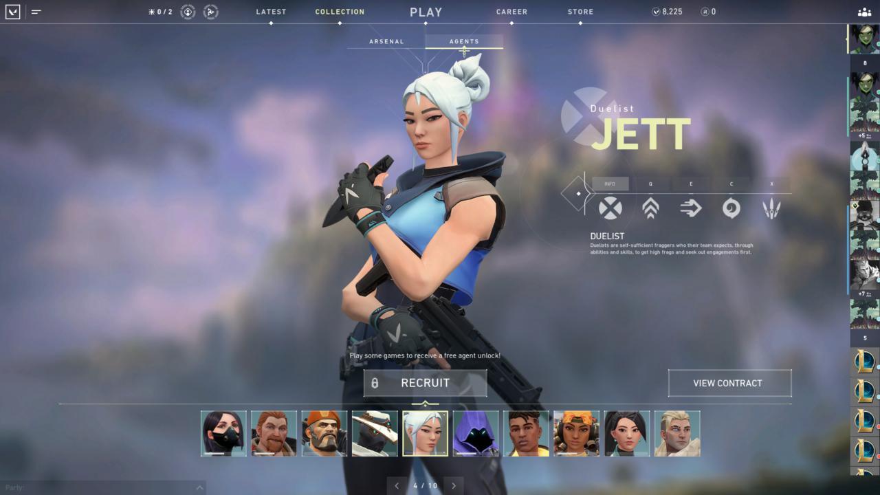 Agente Jett - Reprodução