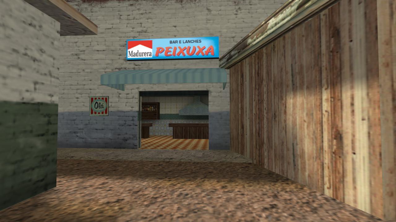 Bar foi retratado dentro do mapa - Reprodução