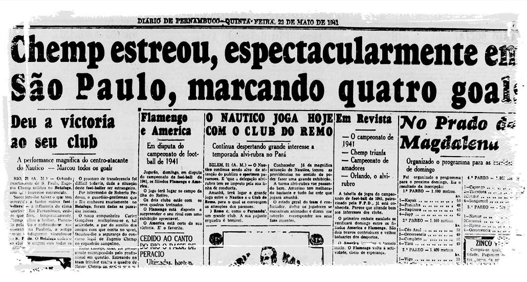 Depois da Portuguesa, Chemp voltou ao São Paulo com quatros gols em um jogo - Reprodução/Diario de Pernambuco