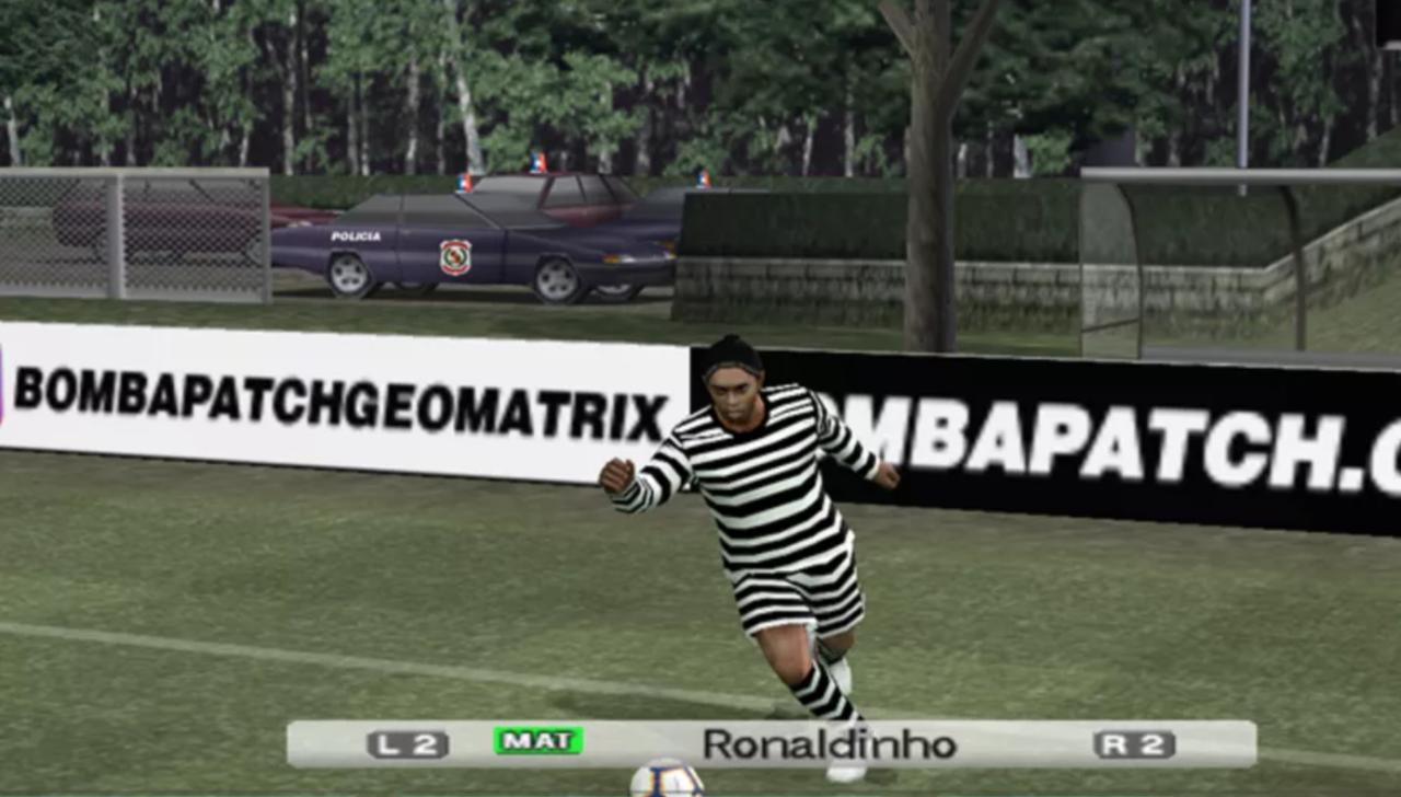 Bomba Patch coloca Ronaldinho Gaúcho com roupa de presidiário no Paraguai - Reprodução