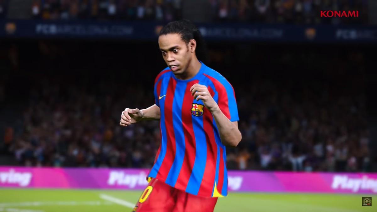 Ronaldinho no PES 2020 - Reprodução