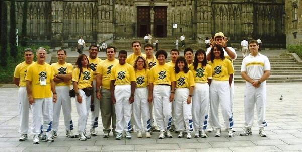 Soraia André em competição com a seleção brasileira de judô - Arquivo Pessoal