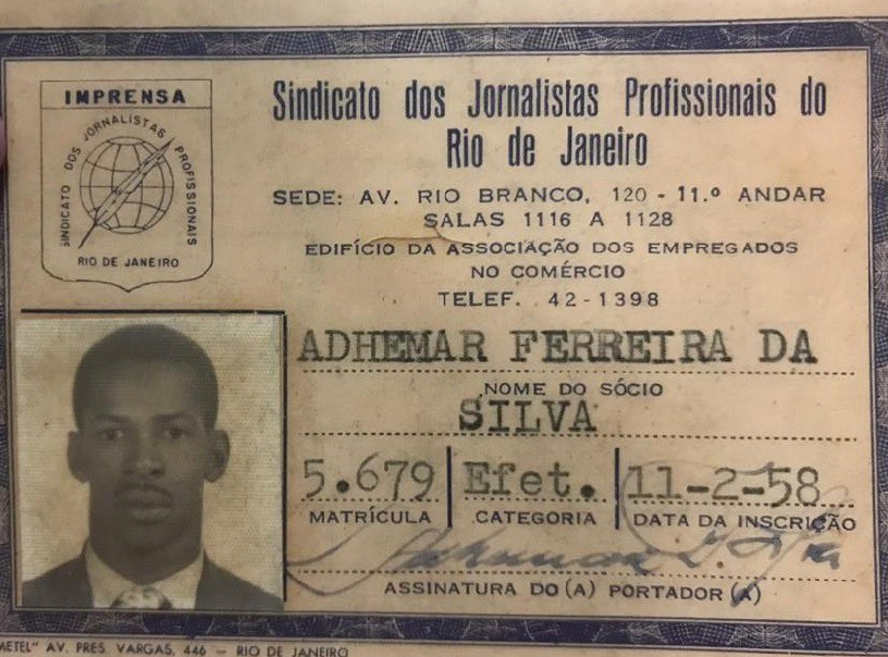 Uma das profissões de Adhemar foi jornalismo - Arquivo pessoal