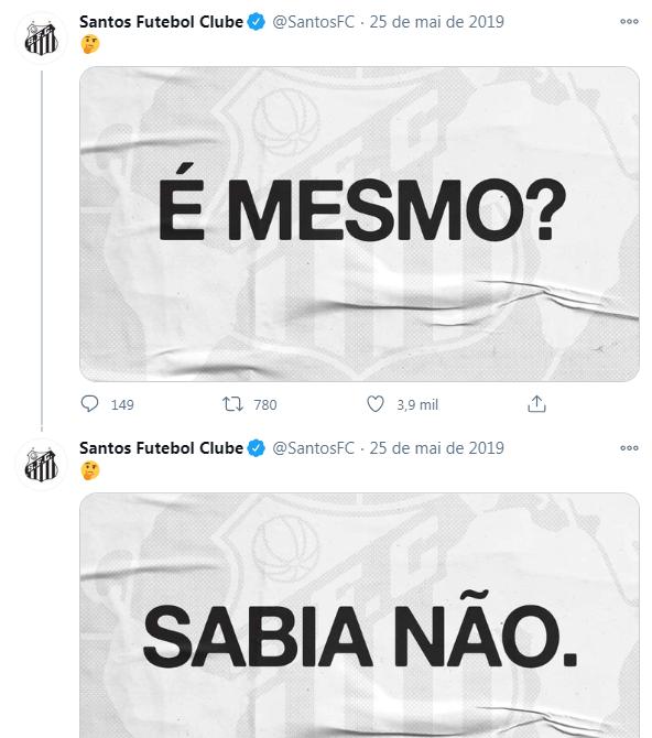 Santos usa meme de Marinho para anunciar contratação - Reprodução