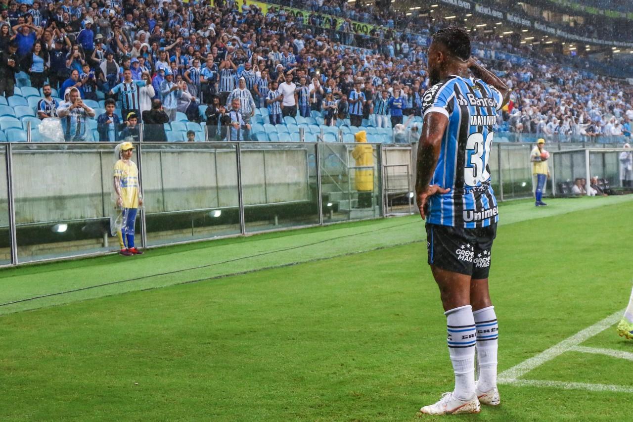 Marinho pelo Grêmio: passagem pouco marcante - Lucas Uebel/Grêmio