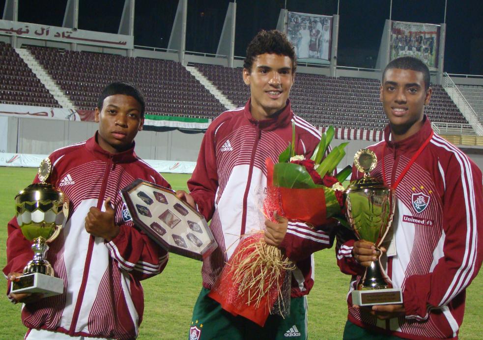 Marinho campeão e melhor jogador pelo Fluminense em Abu Dhabi - Divulgação/Fluminense