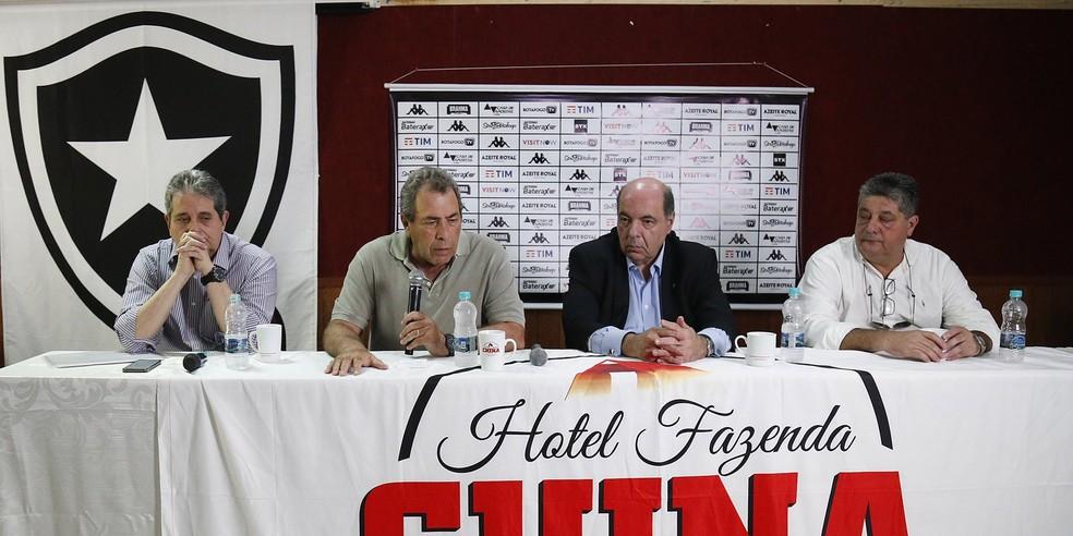 Ricardo Rotenberg, Montenegro, Nelson Mufarrej e Marcos Agostini faziam parte do comitê de futebol - Vitor Silva/Botafogo