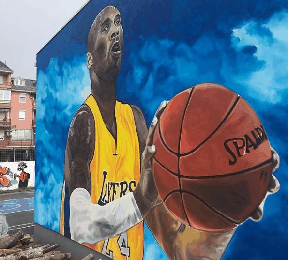 Mural em homenagem a Kobe Bryant foi pintado na Bósnia - Reprodução