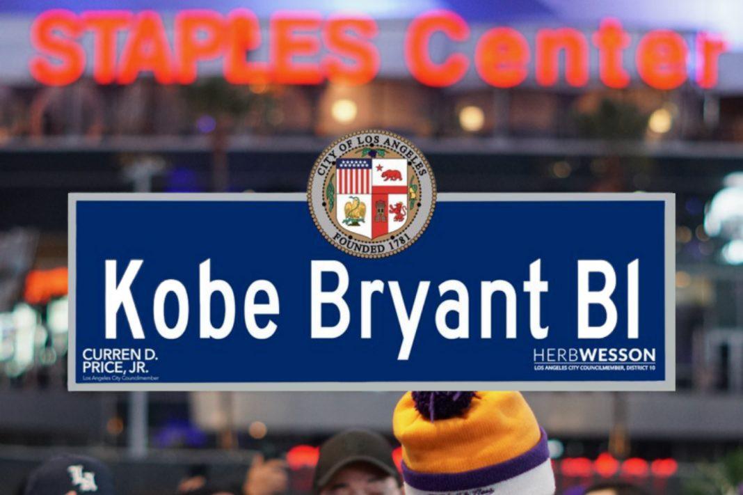 Kobe Bryant passou a dar nome a uma rua em Los Angeles - Reprodução