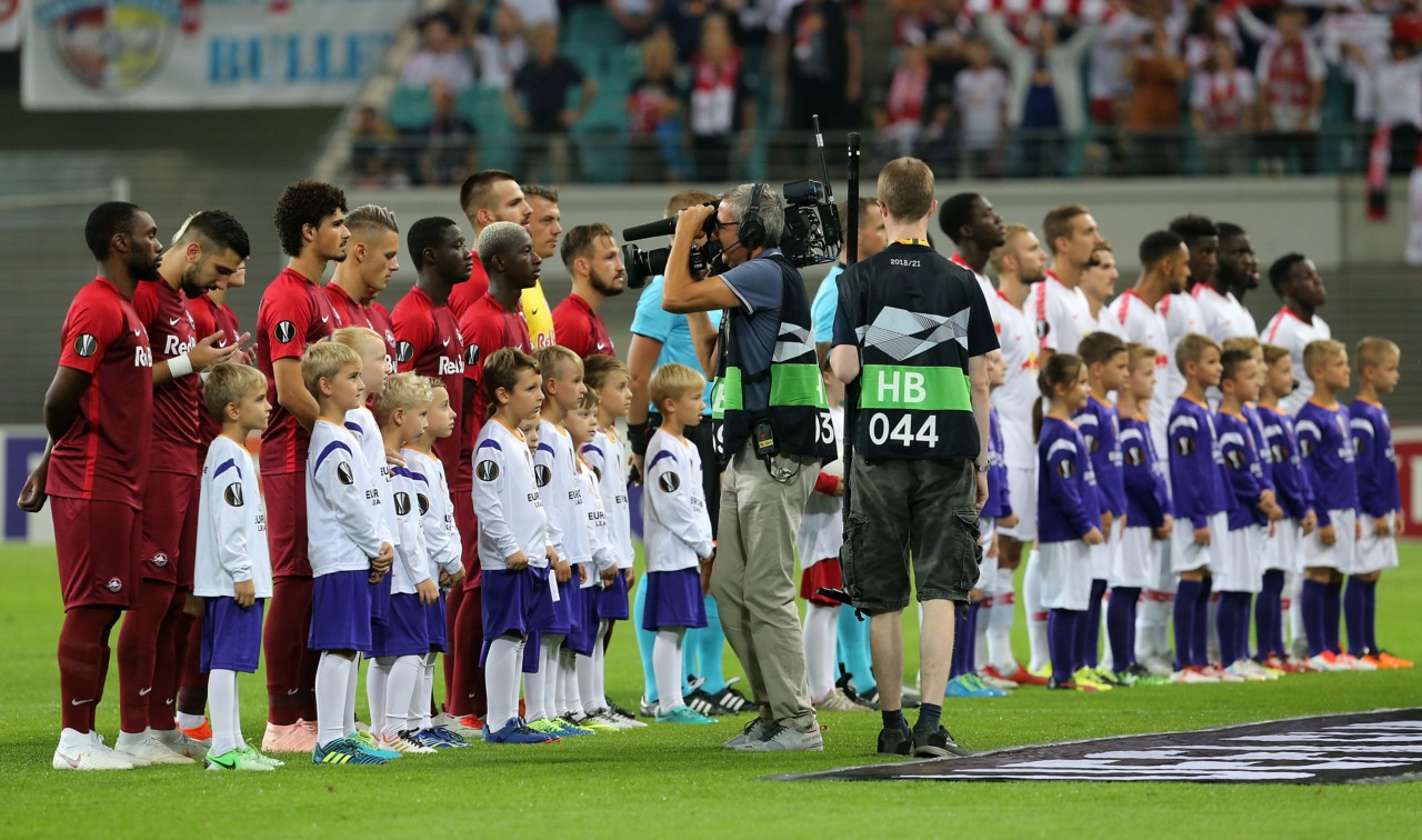 RB Salzburg e RB Leipzig já se enfrentaram pela Liga Europa - Getty Images