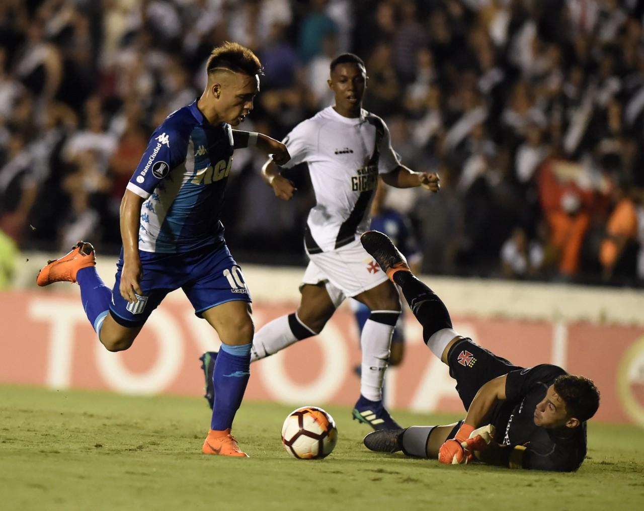 Vasco enfrenta o Racing em 2018: em sua última participação na Libertadores, time acabou eliminado na fase de grupos - André Durão