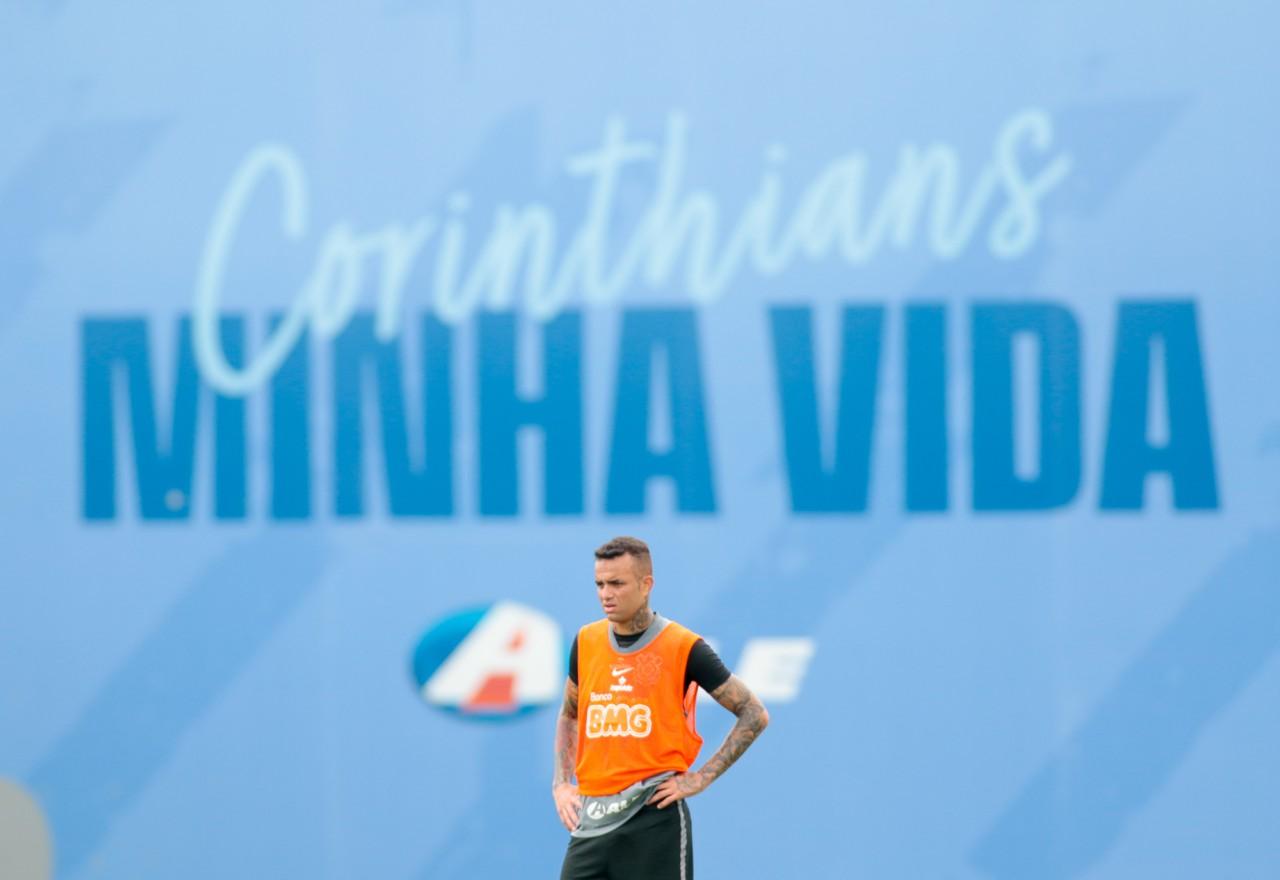 Luan em treinamento no CT do Corinthians - Rodrigo Coca/Ag.Corinthians