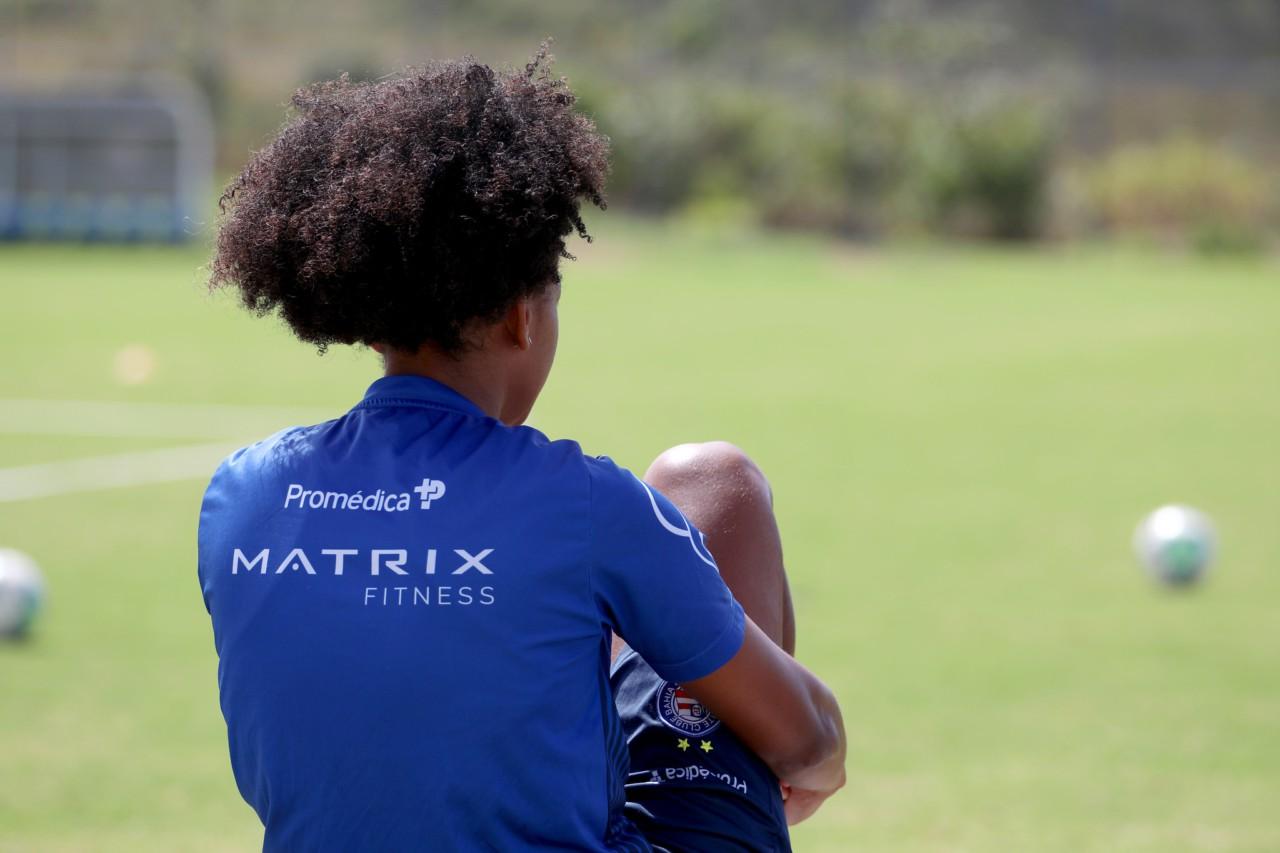 Jogadora do Bahia, que disputa o Brasileirão Feminino - Felipe Oliveira/EC Bahia