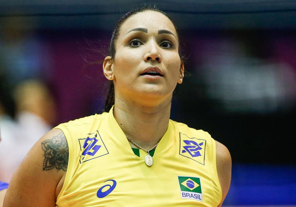 Campeã olímpica em Londres 2012, Tandara se preocupa apenas em ficar pronta para competir em Tóquio - Alexandre Schneider / Getty Images