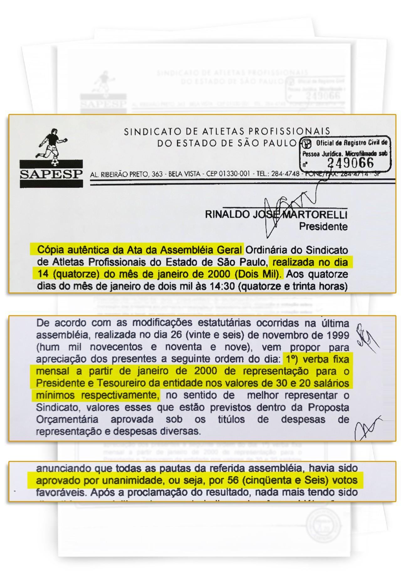 Martorelli aprova salário para presidente e tesoureiro no Sapesp - Reprodução