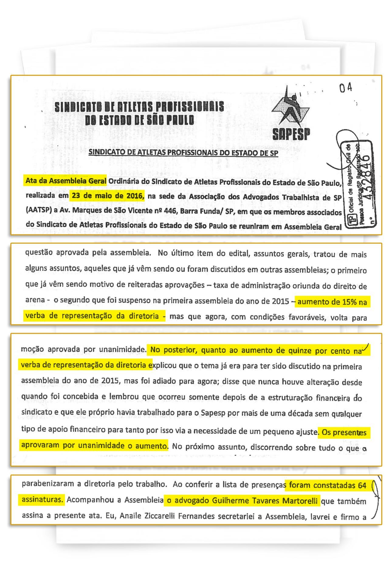 Martorelli aumenta seu próprio salário no sindicato paulista - Reprodução