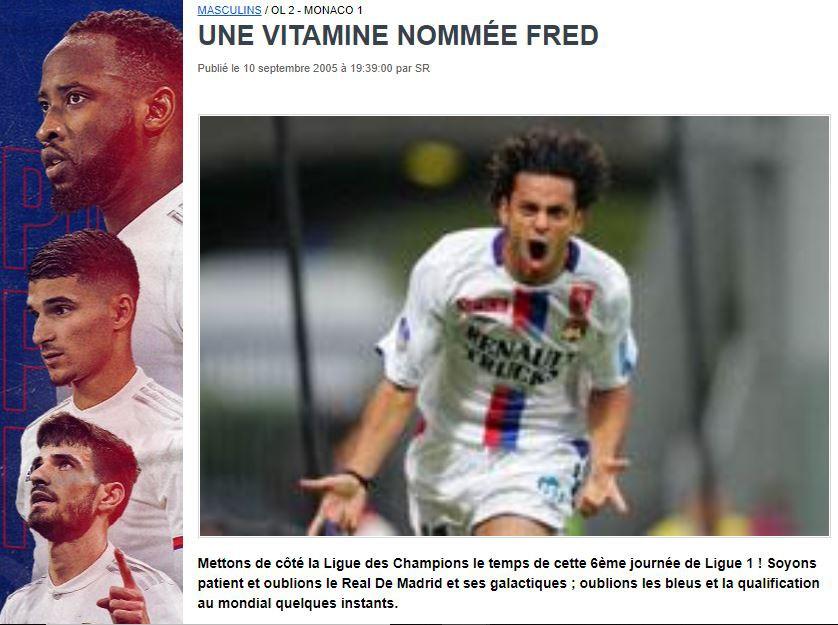 Fred estreia com dois gols pelo Lyon - Reprodução