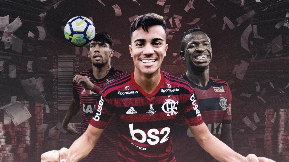 Lucas Paquetá, Reinier e Vinicius Junior renderam R$ 465 milhões ao Flamengo - ge