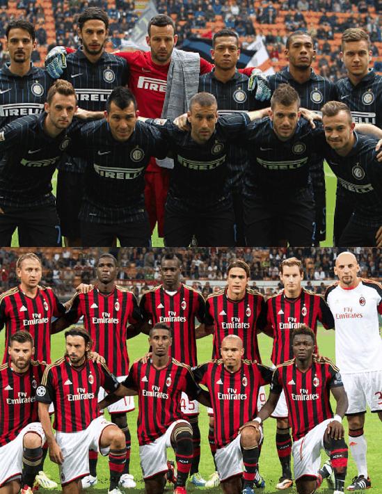 Inter e Milan em 2014 - Divulgação
