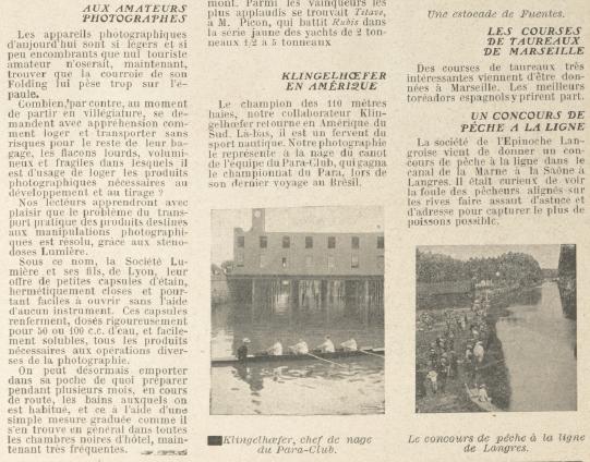 Trecho de reportagem sobre Adolphe no Pará na revista La Vie Au Grand Air - La Vie Au Grand Air