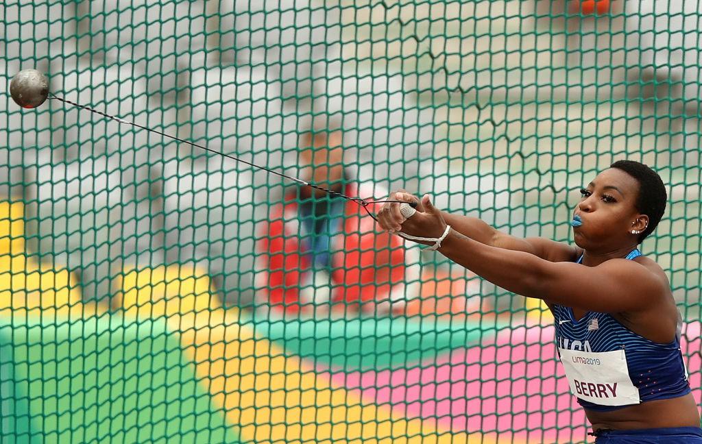 Gwen Berry nos Jogos Pan-Americanos de Lima - Ezra Shaw/Getty Images