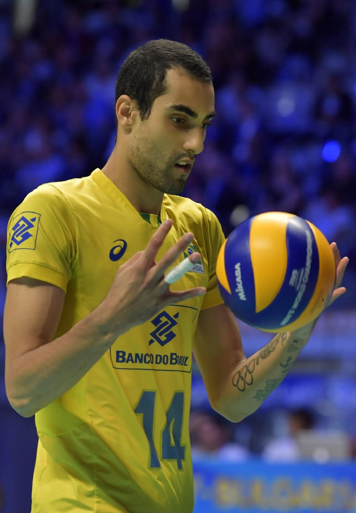 Douglas Souza, jogador da seleção de vôlei - Divulgação/FIVB